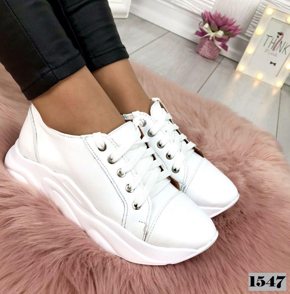 2266c79b Женские кожаные белые кроссовки . Украина - Интернет-магазин