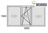 Балконная рама 3000*1500 Rehau