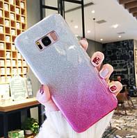 Силиконовый чехол градиент блеск для Samsung Galaxy S6, фото 1