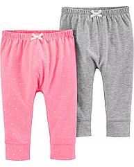 Легкие штанишки для девочки Carter's (набор 2 шт) 3 мес/55-61 см
