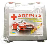 Аптечка автомобильная (Евро-1 серая с ручкой)