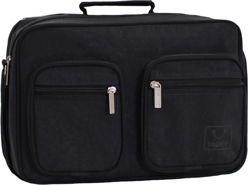 Украина Мужская сумка Bagland Mr.Black 11 л. Чёрный (0026470)