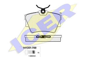 Тормозные колодки задние дисковые Vivaro , Trafic , Primastar ICER 141351 (700)