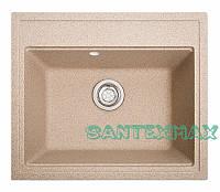 Кухонная гранитная мойка Solid Гросс песок 60x52, фото 1