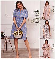 Цветочное платье под грудь 18407, фото 1