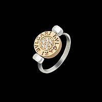 Серебряное кольцо Булгари двухстороннее , фото 1