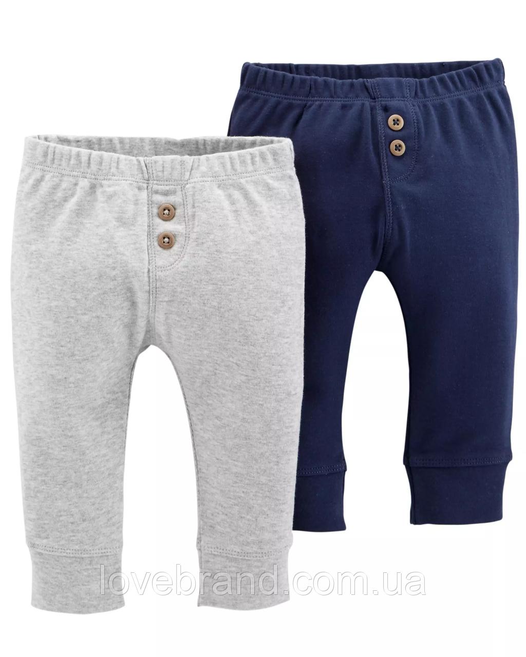 Легкие штанишки для мальчика Carter's (набор 2 шт) , ползунки картерс 3 мес/55-61 см