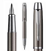Ручка Паркер перьевая, благородный цвет оружейного металла Gun Metall