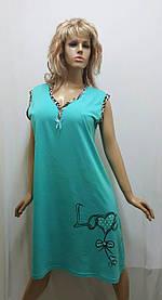 Женская ночная рубашка больших размеров без рукавов, хлопок 199