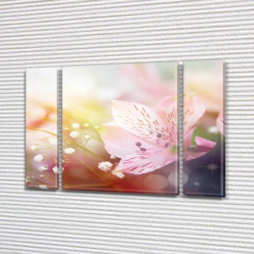 Альстрамерия, модульная картина (Цветы), 75x100 см, (75x18-2/75х60)