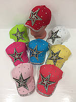 Детские бейсболки Star для девочек оптом, р.54, Китай, фото 1