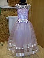 """Платье нарядное """"Гортензия"""" с перчатками, р.116-128"""