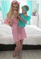 Платье Волан с оборкой на плечах для беременных и кормящих