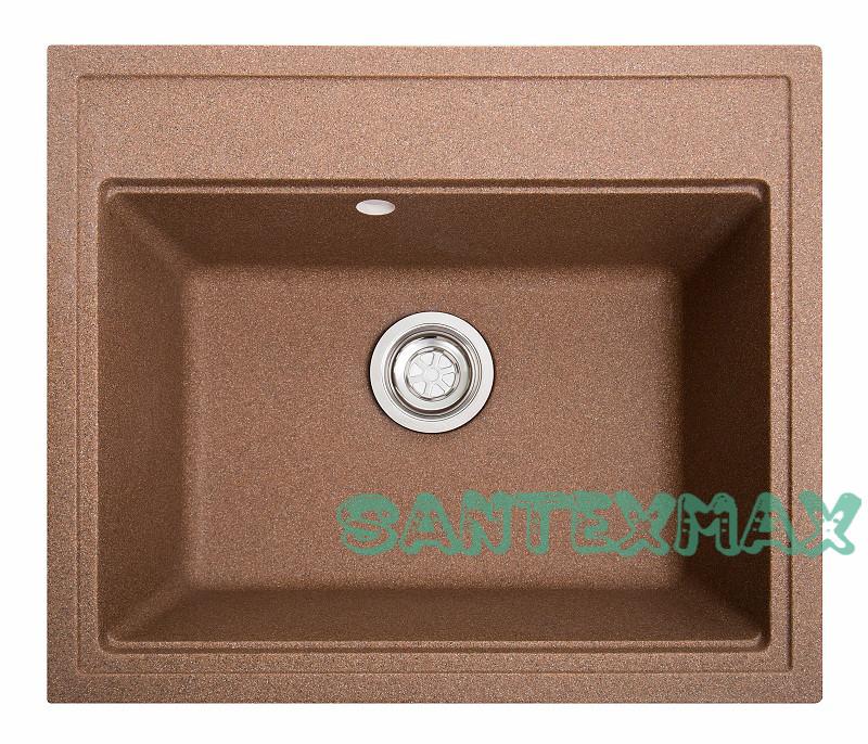 Кухонна кам'яна мийка Solid Гросс теракот ( граніт ) 60x52