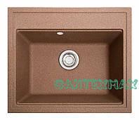 Кухонна кам'яна мийка Solid Гросс теракот ( граніт ) 60x52, фото 1