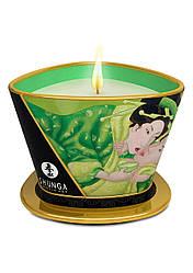 Массажная свеча с ароматом зеленого чая, Shunga, 170 мл