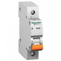 Автоматический выключатель однополюсный Schneider electric 11203 ВА63 1Р 16А, Домовой