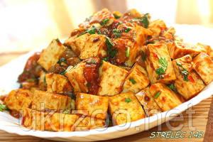 Жареный тофу по-сичуански 250 г ( Острый!)