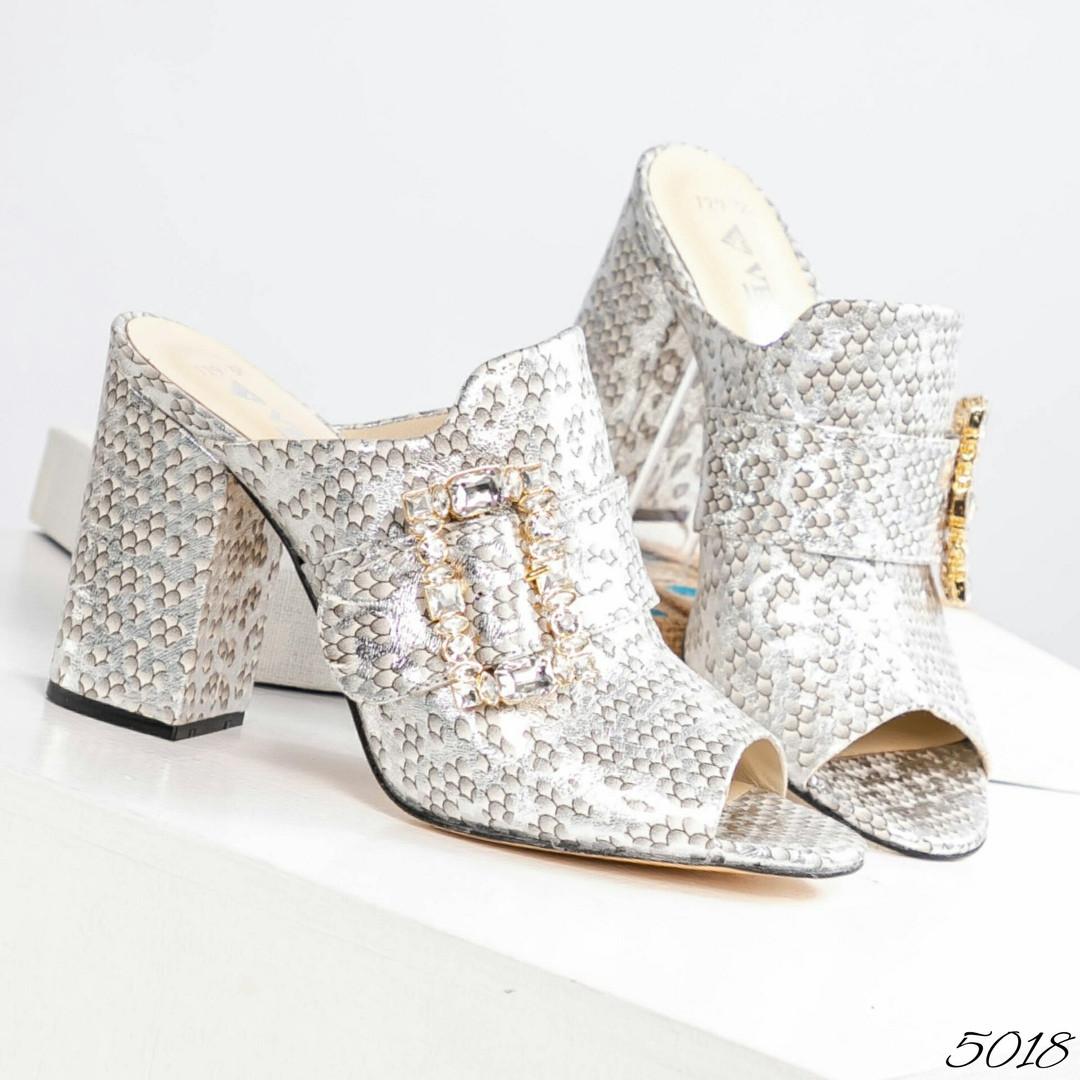 Элегантные женские мюли Eili с пряжкой на каблуке
