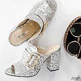 Элегантные женские мюли Eili с пряжкой на каблуке, фото 7