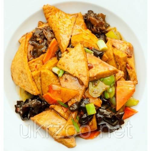 Жареный тофу по-домашнему ( с овощами) 250 г