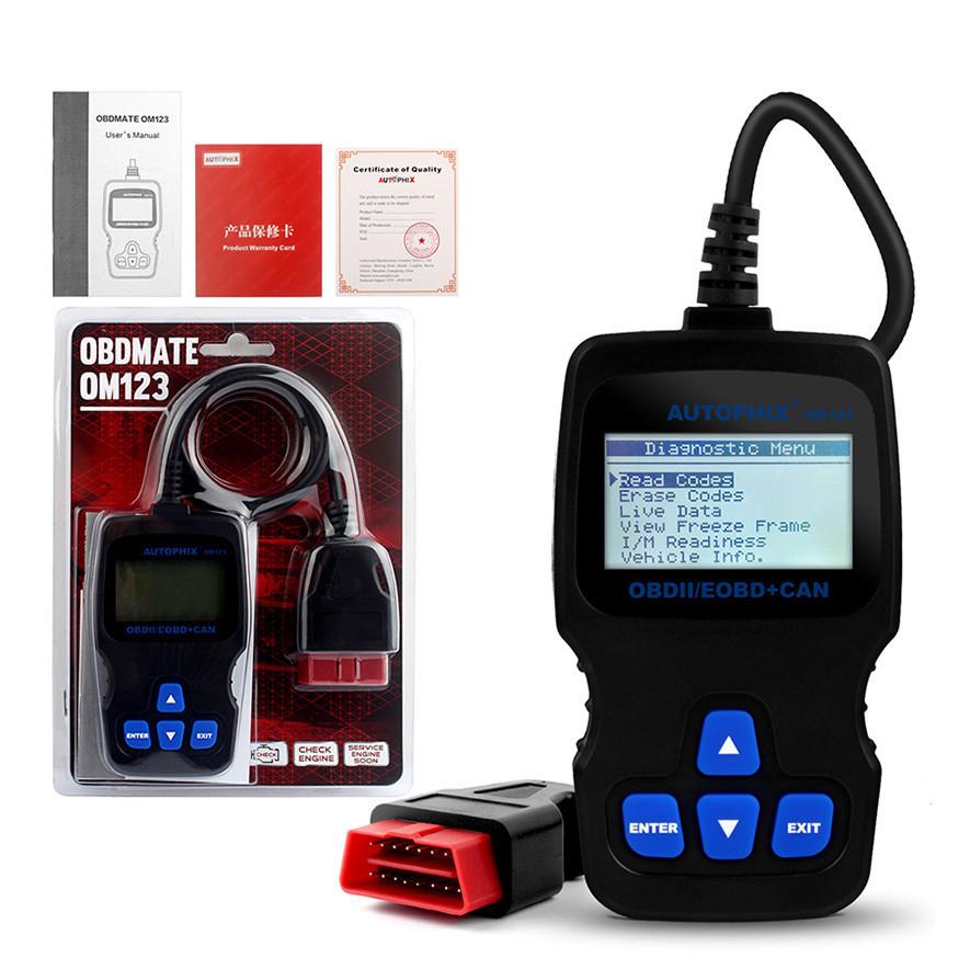 Диагностический сканер OBD Autophix OBDMATE OM123 автосканер бортовая диагностика ошибок