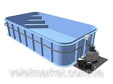 Бассейн Econ Trend B (5х3х1,2) + фильтровальная установка