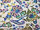 Лен стрейчевый яркие цветы, голубой на белом, фото 2