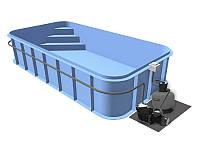 Бассейн Econ Trend D (7,5х3х1,2) + фильтровальная установка
