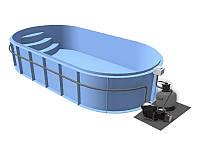 Бассейн Econ Basic A (5х2,5х1,5) + фильтровальная установка