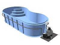 Бассейн Econ Fun B (7,5x3x1,5) + фильтровальная установка