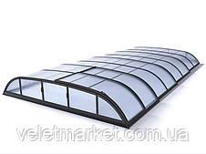 Павильон для бассейна Dallas B 5,2x8,6x0,85м - Silver elox