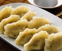Вареные китайские пельмени 10 шт