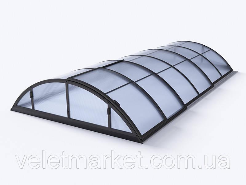 Павильон для бассейна Klasik A 3,6х6,4х1м - Antracit