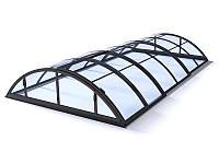 Павильон для бассейна Klasik Clear A 3,6х6,4х1м - Antracit