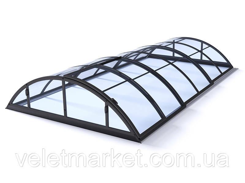 Павильон для бассейна Klasik Clear B 4,7х8,6х1,3м - Antracit