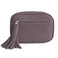 Женская кожаная сумка капучино