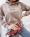 Худи с капюшоном на шнурке и карманом кенгуру, фото 2
