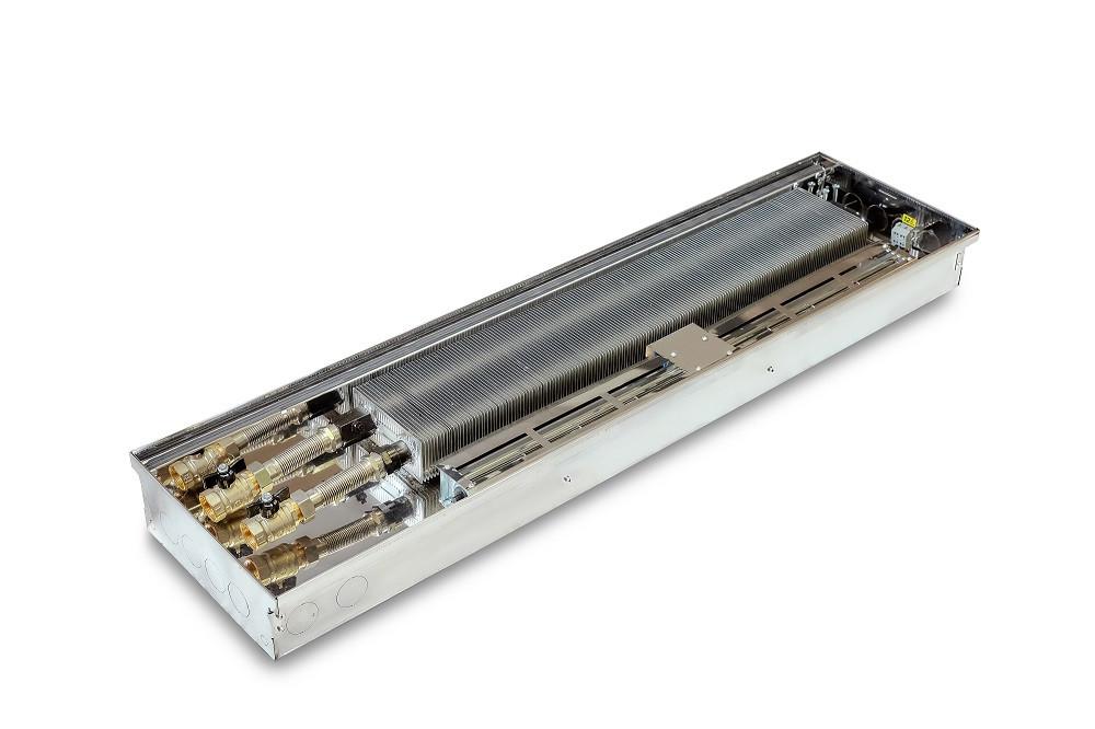 Конвектор внутрипольный с вентилятором для отопление дома квартиры с панорамными окнами ТеплоБрейн Т mini 230
