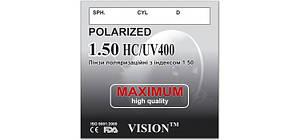 Линза для очков поляризационные, с индексом 1,50 (с покрытием HC+UV400)