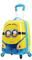 Дитяча валіза на 4 коліщатках Міньйони 22 літри