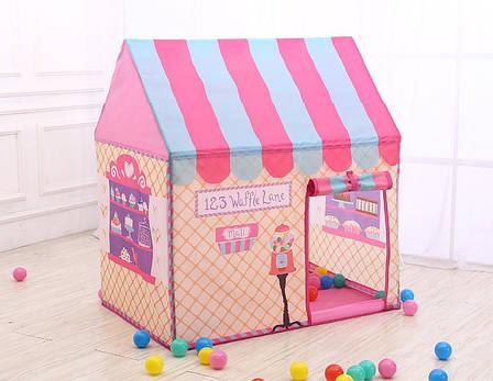 Детский игровой домик, Большая палатка для детей. 110х70х100см Сладкий домик, фото 2