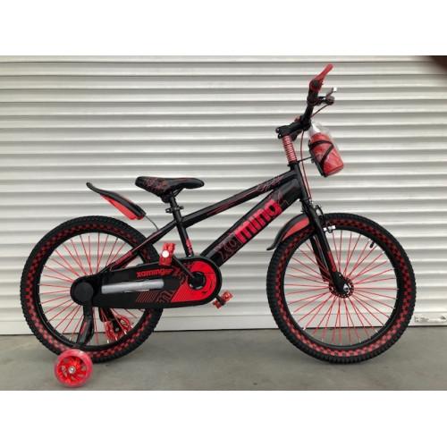 Детский двухколесный велосипед 18 дюймов с флягой светящиеся колеса