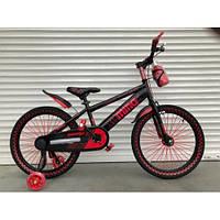 Детский двухколесный велосипед 18 дюймов с флягой светящиеся колеса, фото 1