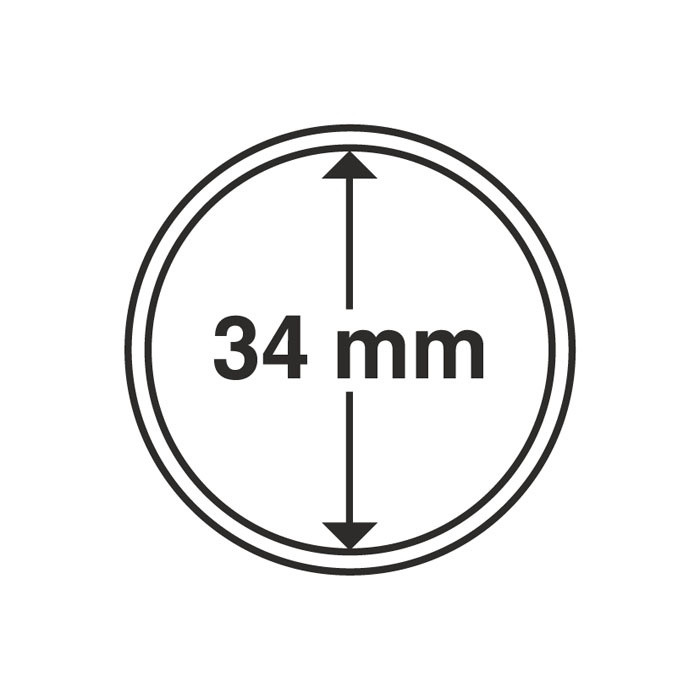 Капсула для монеты 34 мм, Leuchtturm