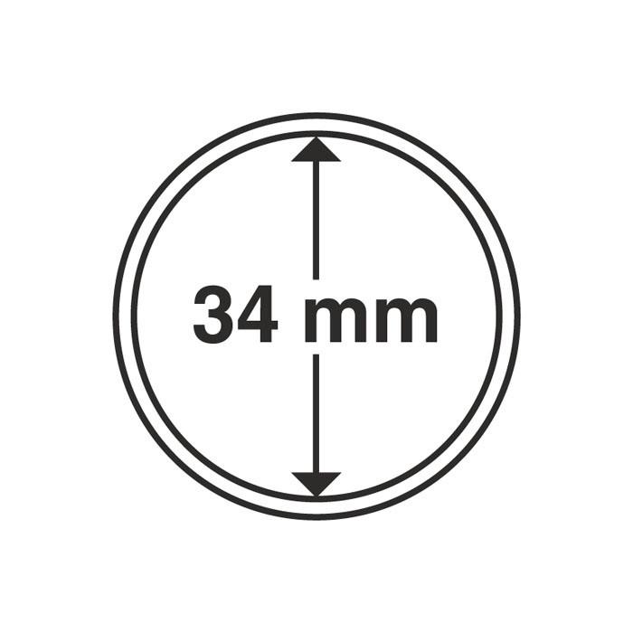 Капсула Leuchtturm для монеты 34 мм