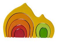 Конструктор nic деревянный Дом Габли желтый NIC523022