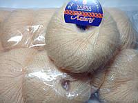Пряжа Антарес Италия 30% (кид мохер) светлый персик