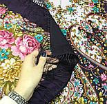 Прекрасное далёко 1678-15, павлопосадский платок шерстяной с шелковой бахромой, фото 8