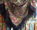 Прекрасное далёко 1678-15, павлопосадский платок шерстяной с шелковой бахромой, фото 7